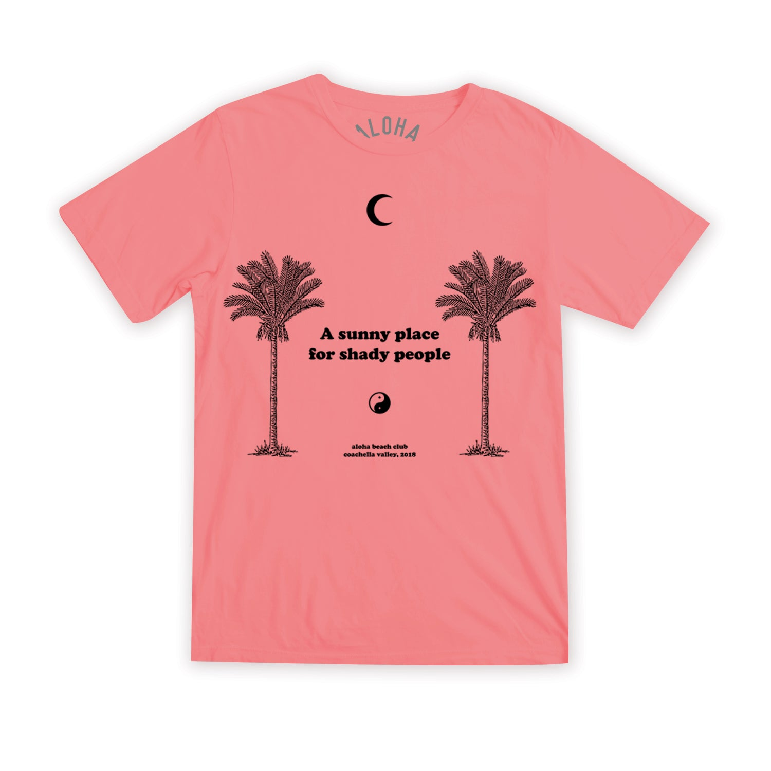 Aloha Beach Club - Unisex Shady Tee Coral - Aloha Beach Club