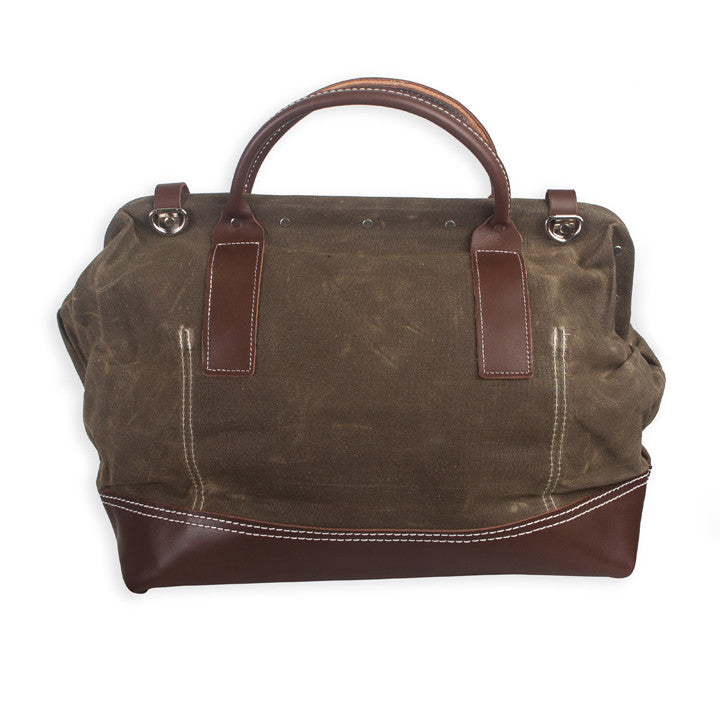 "Wood&Faulk - 20"" Northwesterner Olive Bag"