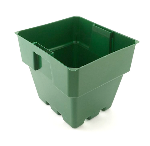 100mm Squat Punnet Pots - Green