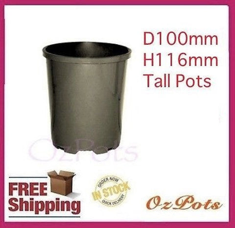 100mm Round Tall Pots