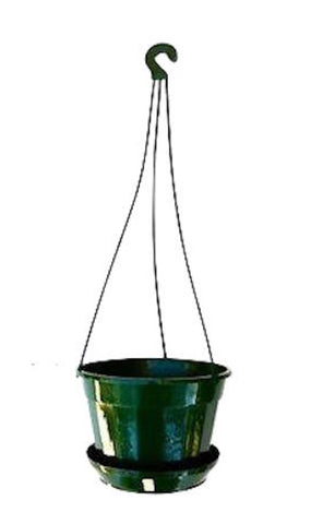Hanging Basket Plant Pot 140mm with sauce - Indoor / Outdoor Plant or Herbs