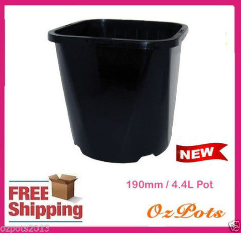 190mm Square Round Pots
