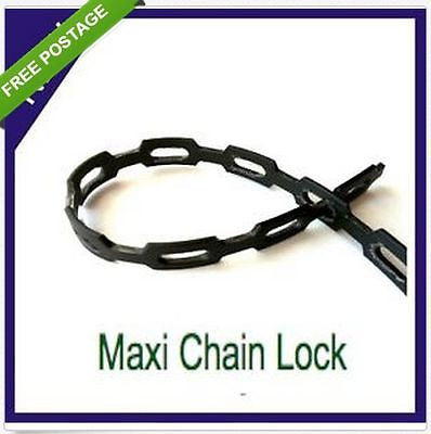 12mm All Purpose Adjustable Plant Tie / Chain Lock - Great for Plants, Shrubs, Trees