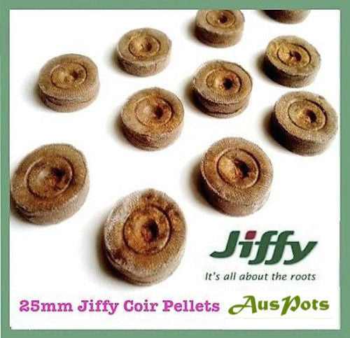 25mm x 100pcs Jiffy-7 Coir Pellets Round