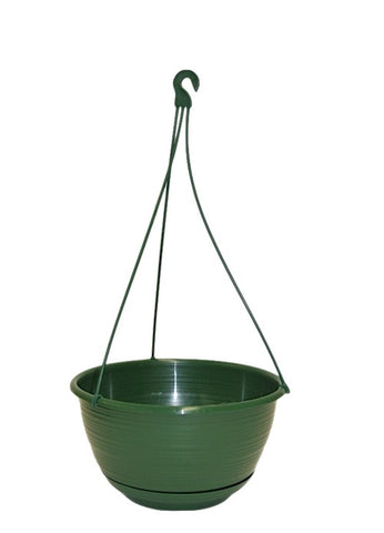 250mm Hanging Basket Pot with sauce & hangers x 10 Sets - Indoor / Outdoor Plant