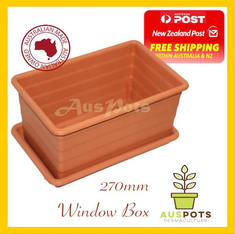 270mm Plastic Plant Box / Pot x 4 sets