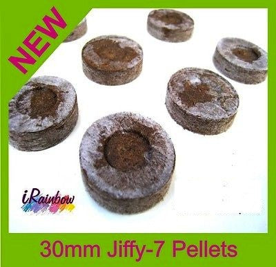 30mm Jiffy Coir Pellets Round - For Plant / Veggie Seeds Propagation - Ozpots