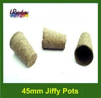 45mm Jiffy Round Tall Pot - Garden Plant Propagation, Cutting, Seedling, Herbs