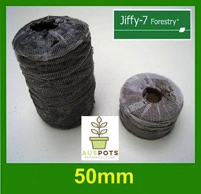 50mm Jiffy Forestry Vine Pellets Round x 486pcs