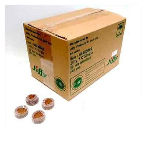 50mm Jiffy-7C Coir Pellets Round  x 640pcs - Bulk Buy