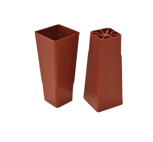 50mm Forestry Plant  Square Plastic Tube/pot - Propagation, Seedling, Cuttings