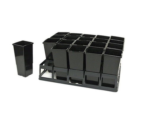 69mm Deep Plant Tubes/Pots & 20 cell Tray Set