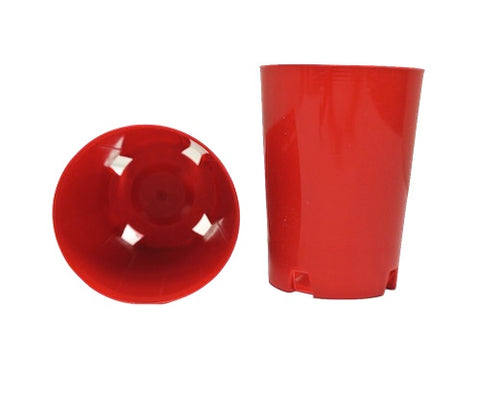 75mm Round Plastic Tube / Pot  (Red) x 144pcs
