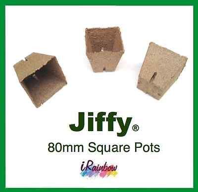 80mm Jiffy Square Pot - Garden Plant Propagation, Cutting, Seedling, Herbs