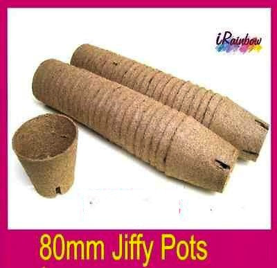 80mm Jiffy Round Pot - Garden Plant Propagation, Cutting, Seedling, Herbs