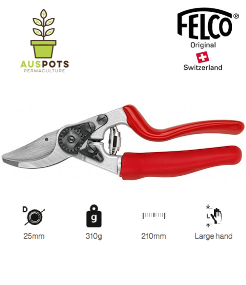 FELCO 7 One-hand pruning shear, High performance, Ergonomic - Revolving Handle