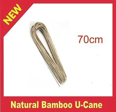 Natural Bamboo U-Cane 70cm - Plant Trellis, Support, Climbers - Tomatoes - AusPots Permaculture