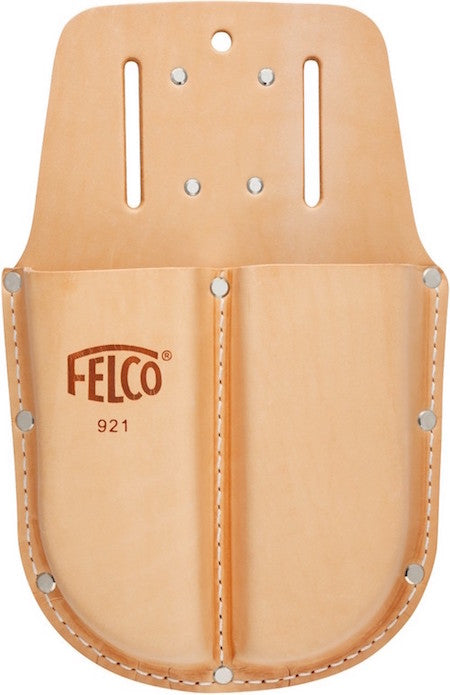 FELCO 921 Genuine Leather Holster / belt loop & clip for 2 Felco Secateur Tools