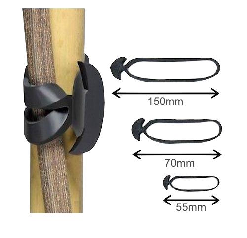 Rubber Tie Bands - Horticultural Fasteners - Great for Plants, Shrubs, Trees
