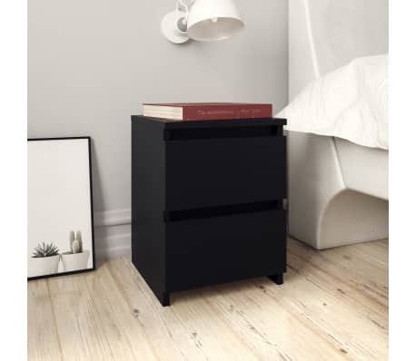 Table de chevet noir design