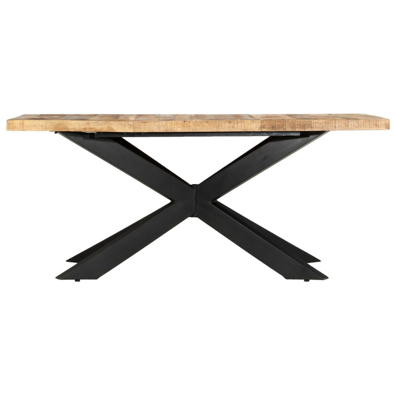 Table bois brut manguier design