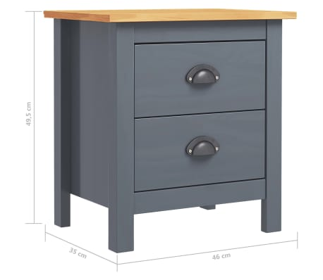 Table de chevet gris anthracite
