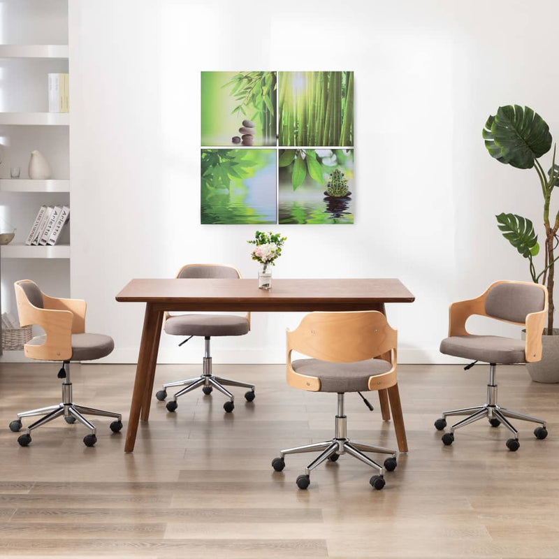 Ensemble de 4 tableaux Nature 80x80 cm