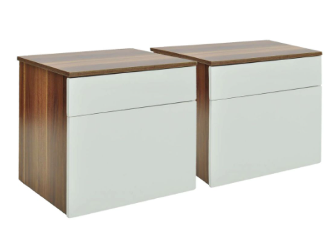 Lot de 2 tables de nuit design