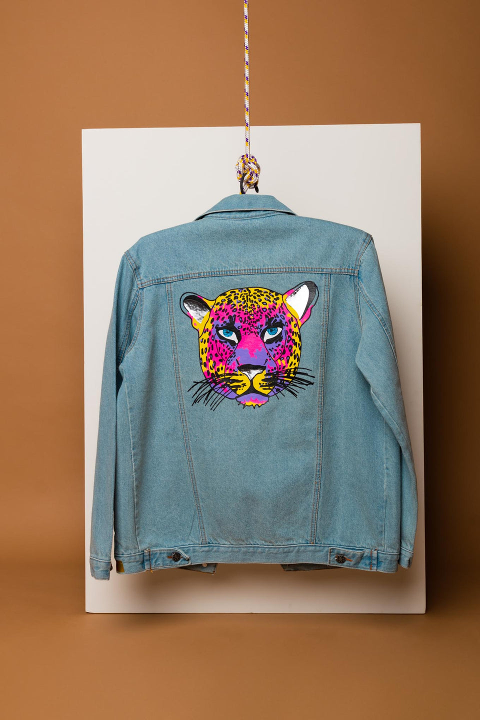 Neon Leopard Denim Jacket