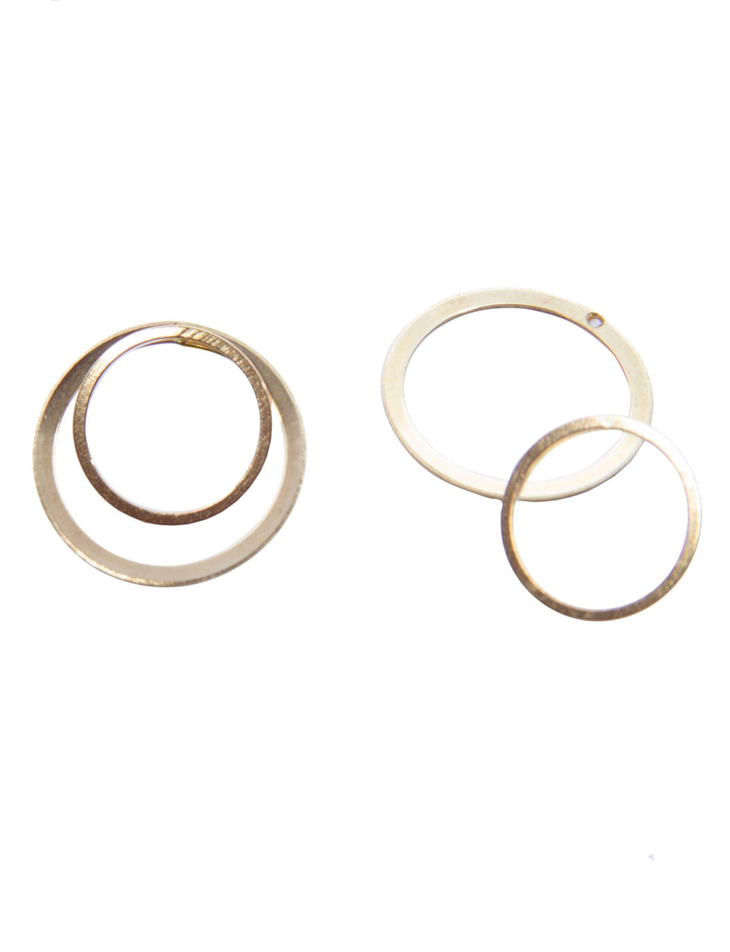 Brass with Gold-Fill Concentric Jacket Earrings