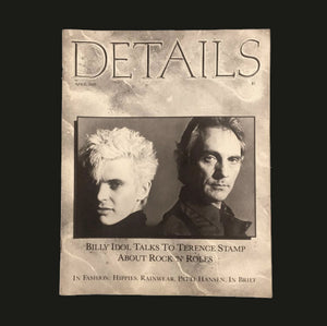 DETAILS MAGAZINE / Billy Idol Talks to Terence Sta - tailor books