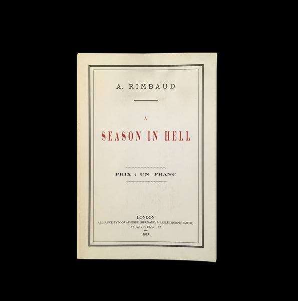 ARTHUR RIMBAUD / A season in hell - tailor books