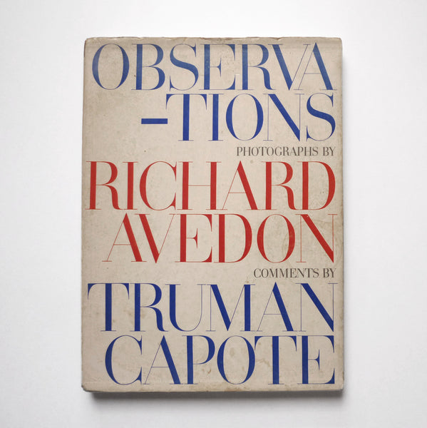 RICHARD AVEDON - TRUMAN CAPOTE / Observations - tailor books