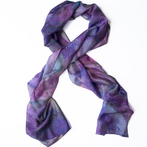 """Purple Haze""  Oblong Scarf"