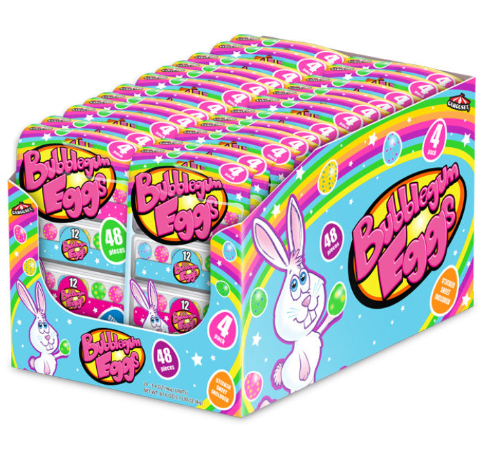 Bubble Gum Mini Eggs Carton 4pk Peg Bag