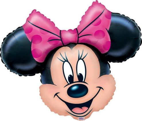 Minnie Mouse Head Balloon (with helium)