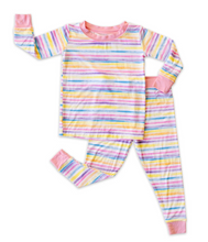 Load image into Gallery viewer, Sunrise Stripe - Bamboo Viscose Two-Piece Pajama Set