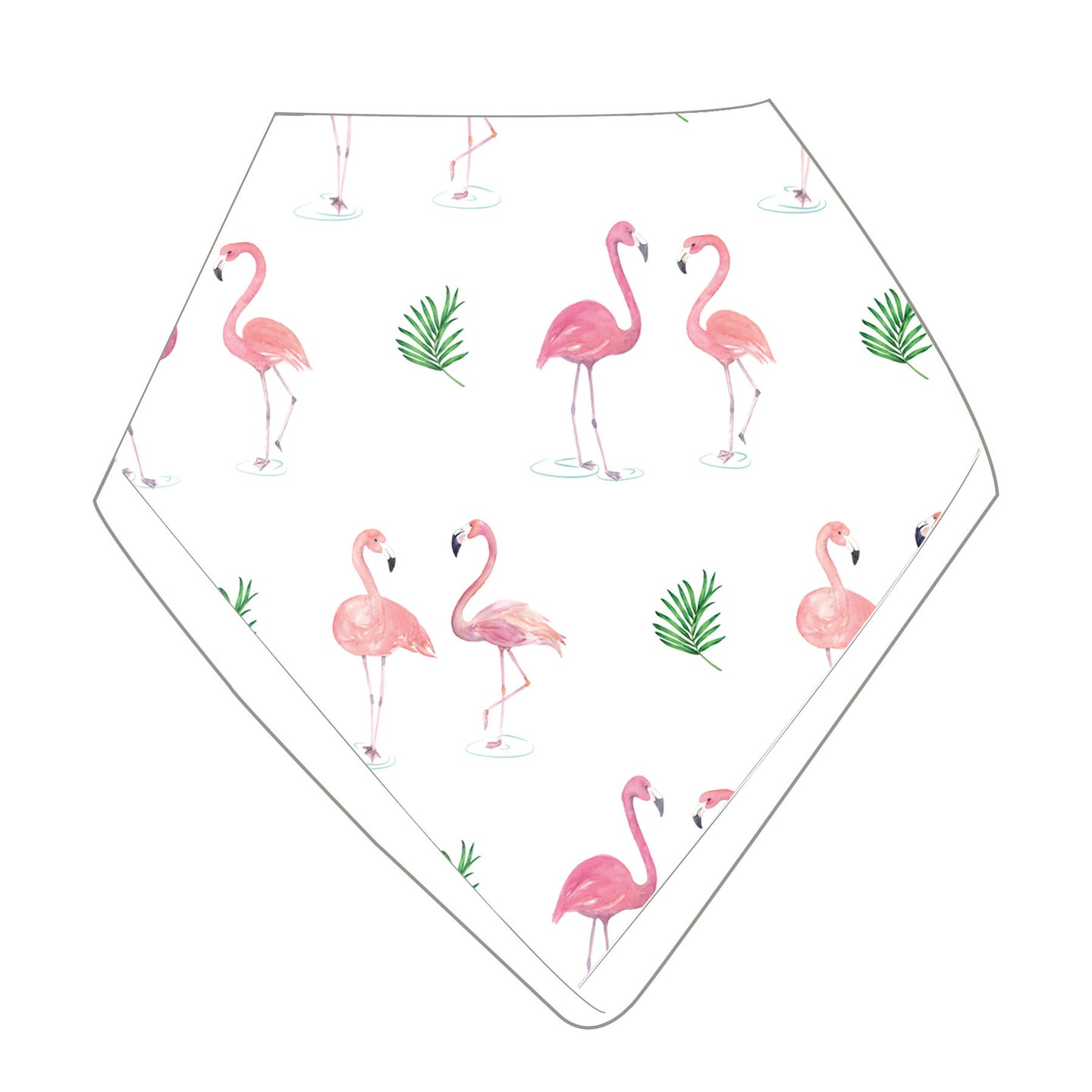 Always Look on the Pink Side of Life - Organic Muslin Bib