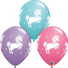 Load image into Gallery viewer, Whimsical Unicorns (11 Inch latex balloon)