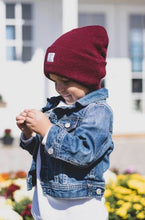 Load image into Gallery viewer, Cardinal Maroon Beanie