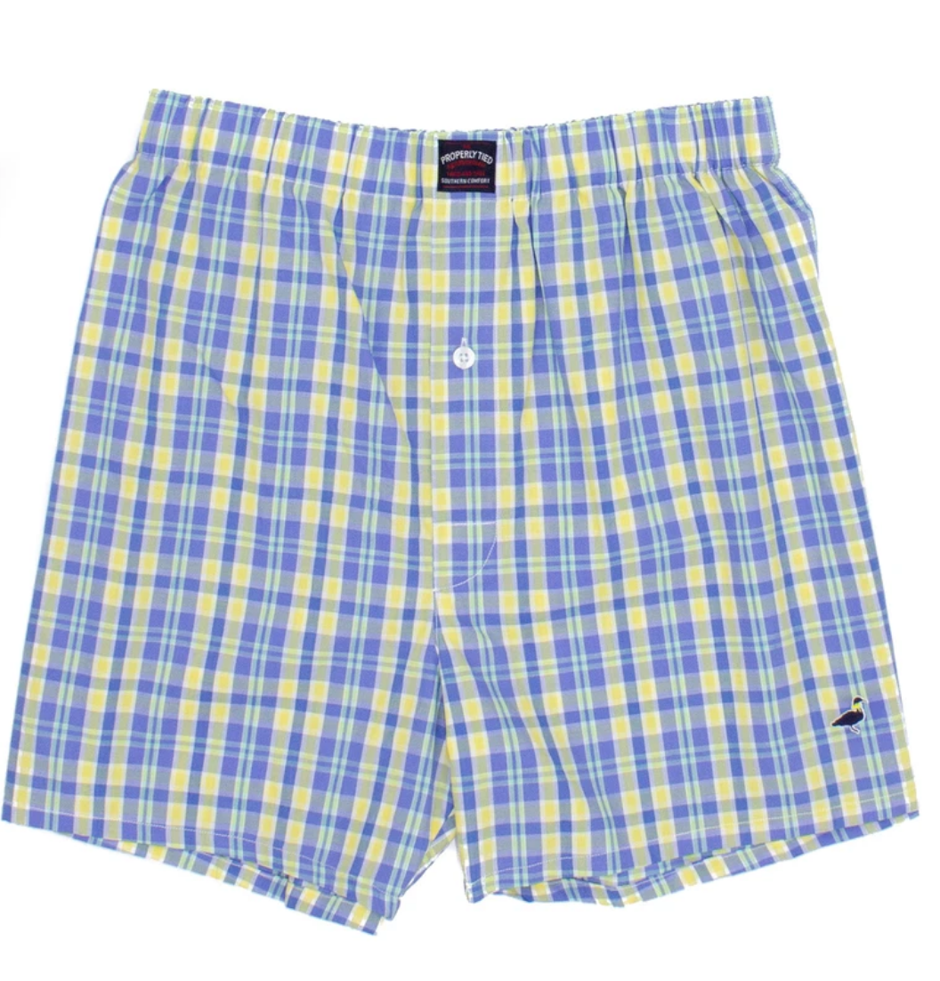 LD Signature Blue/Yellow Plaid Boxer (Skipper)