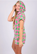 Load image into Gallery viewer, Pink Avocado Romper