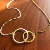Gold/Silver Abstract Circle Necklace