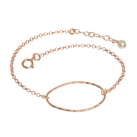 Rose Gold Oval Shimmer Bracelet