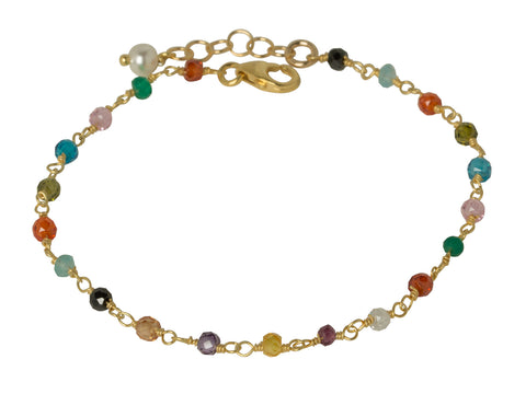 Multi-Gemstone Wire Wrapped Bracelet