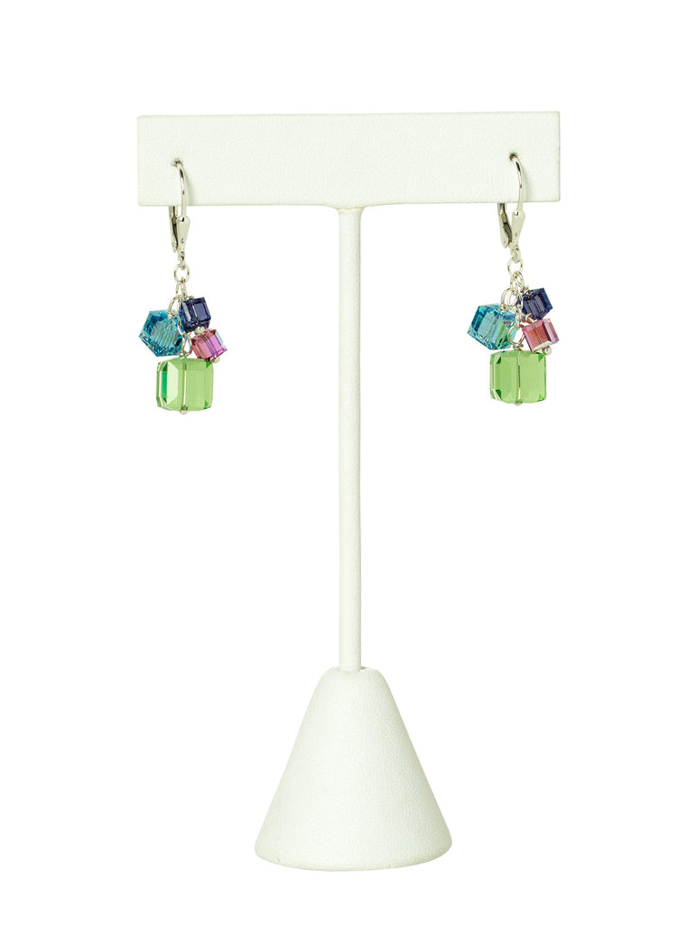 Capri Swarovski Crystal Cube Earrings