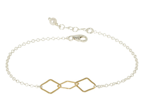 Gold Diamond Chain Bracelet