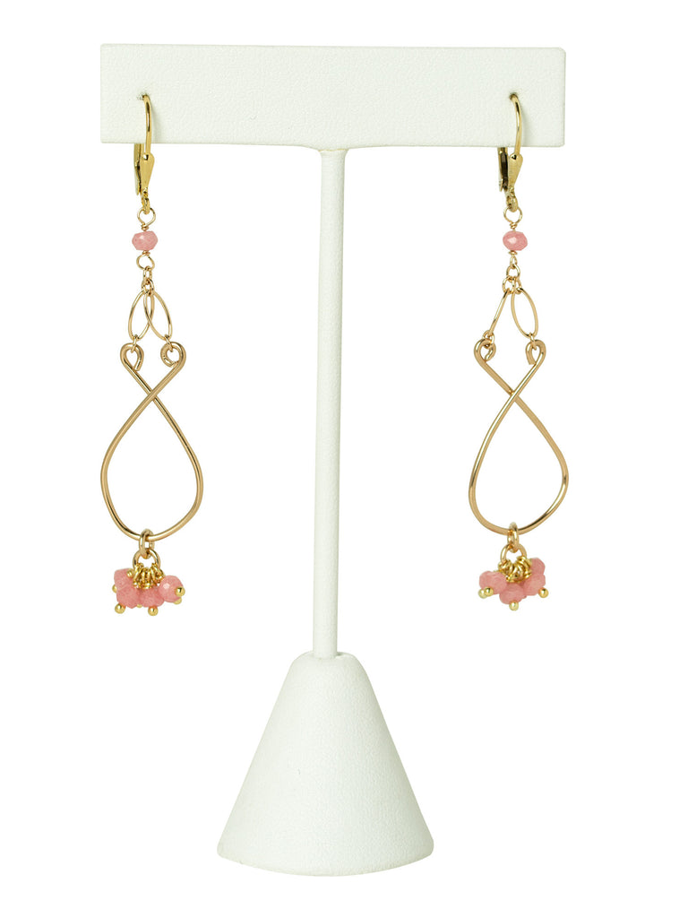 Rose Quartz Filigree Earrings