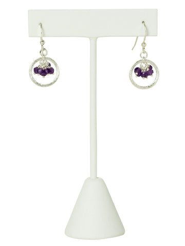 Amethyst Gemstone Eternity Earrings
