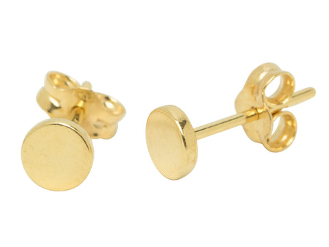 Tiny Gold Dot Stud Earrings